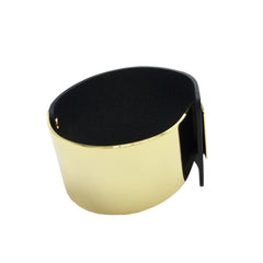 Structural Gold-Plated Leather Bracelet - Bon Flare Ltd.