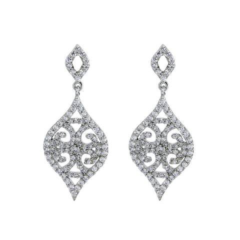 Antique Diamond Semi-Mount Earrings