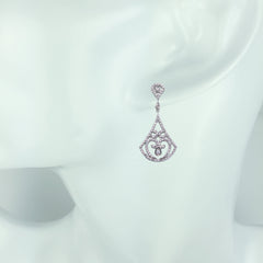 Antique Diamond Semi-Mount Earrings - Bon Flare Ltd.
