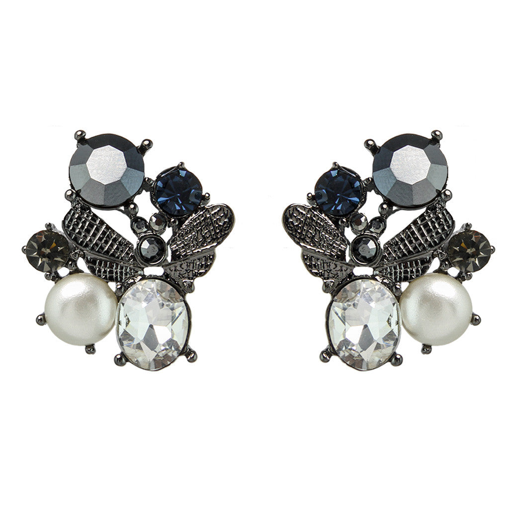 Crystal Pebble Earrings - Bon Flare Ltd.