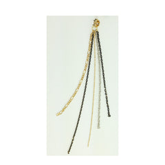 Embellished Braided Rope & Chains Earrings - Bon Flare Ltd.