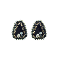 Triangle Crystal Studs - Bon Flare Ltd.