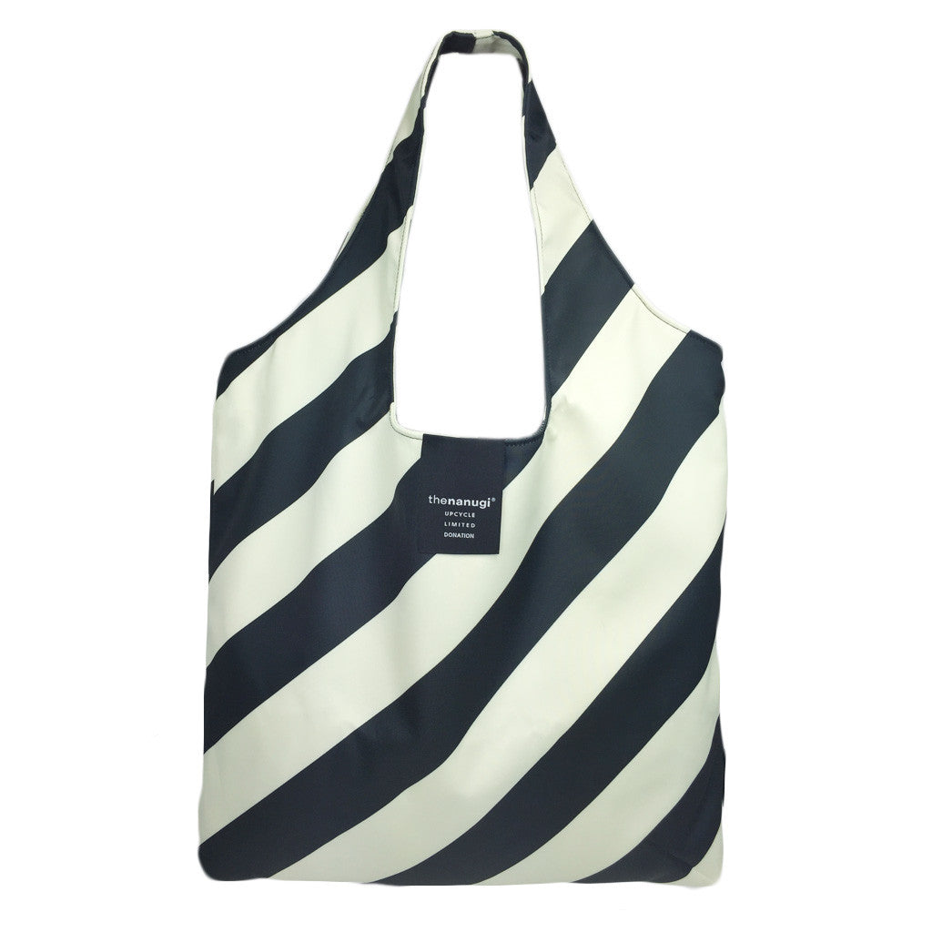 Printed Diagonal Stripe  Hobo Tote - Bon Flare Ltd.