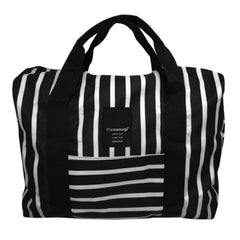 Printed Stripe Packable Duffel - Bon Flare Ltd.