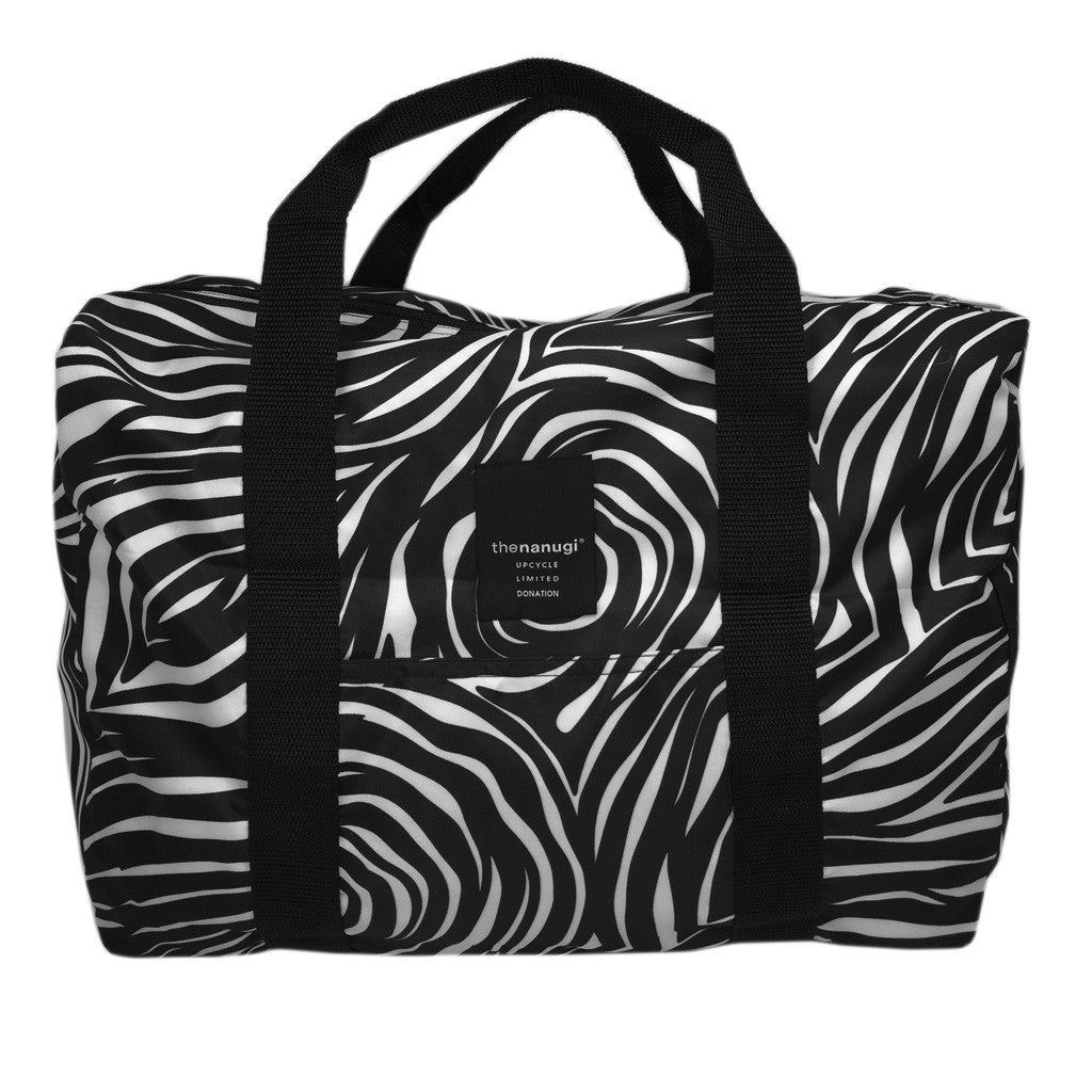 Printed Zebra Packable Duffel - Bon Flare Ltd.