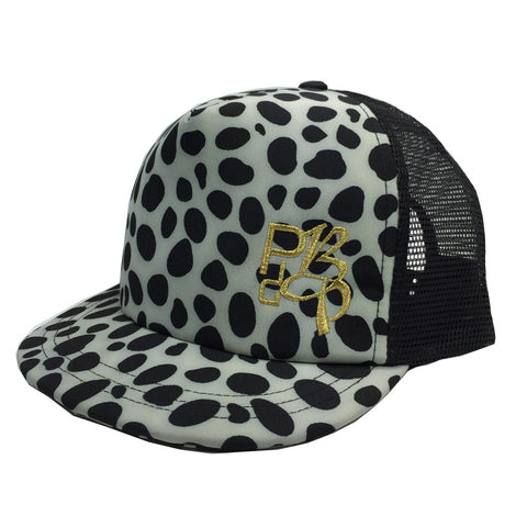 Leopard With Embroidered Logo Trucker Cap