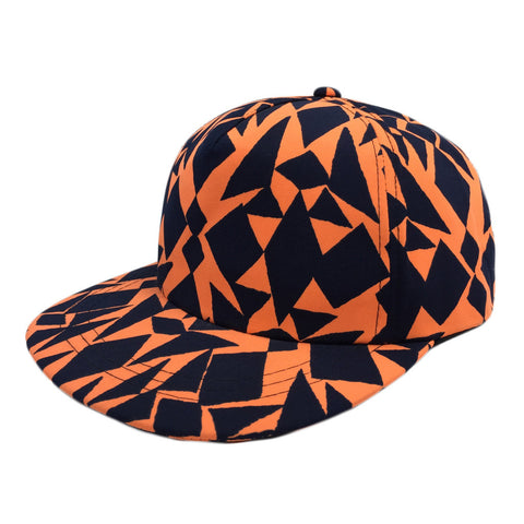 Abstract Geometric Printed Cap