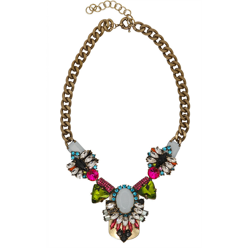 Crystal Shield Necklace - Bon Flare Ltd.