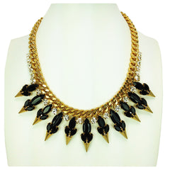 Crystal Spike Necklace - Bon Flare Ltd.