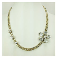 Crystal Flower Necklace - Bon Flare Ltd.