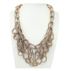 Textured Chain Necklace - Bon Flare Ltd.