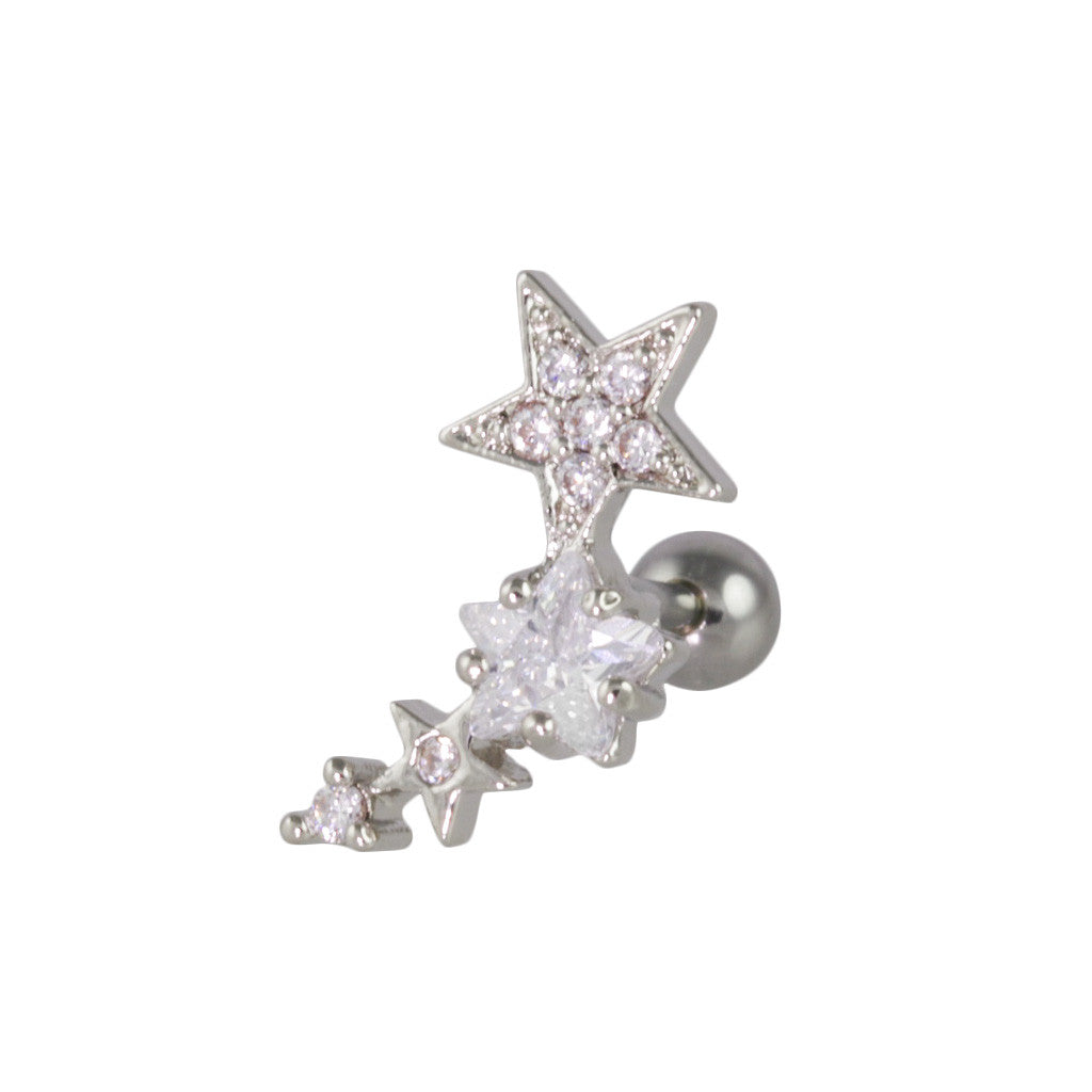 Star Shower Curved Piercing-Left - Bon Flare Ltd.