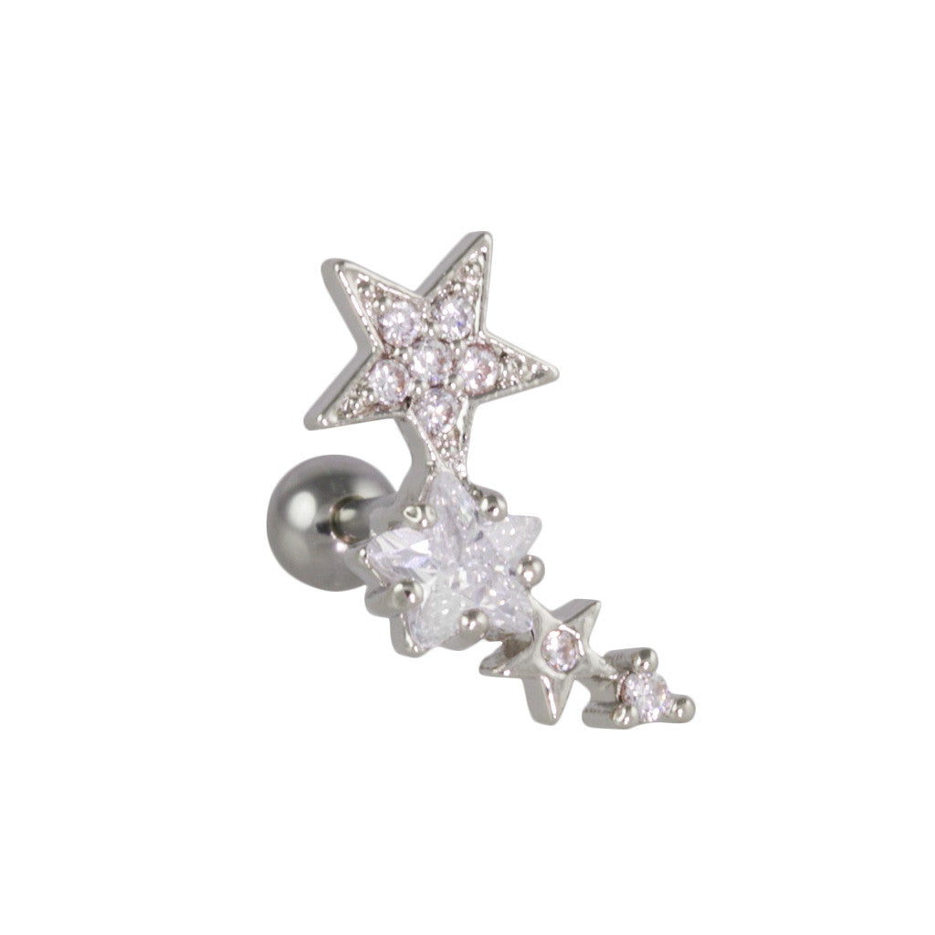 Star Shower Curved Piercing-Right - Bon Flare Ltd.