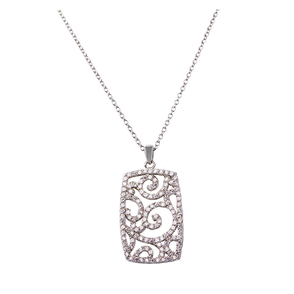 Retangle Diamond Pendant - Bon Flare Ltd.