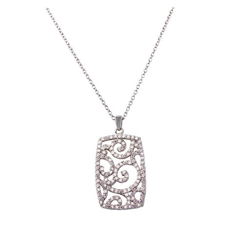 Retangle Diamond Pendant