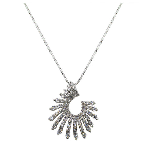 Shell Shaped Diamond Pendant