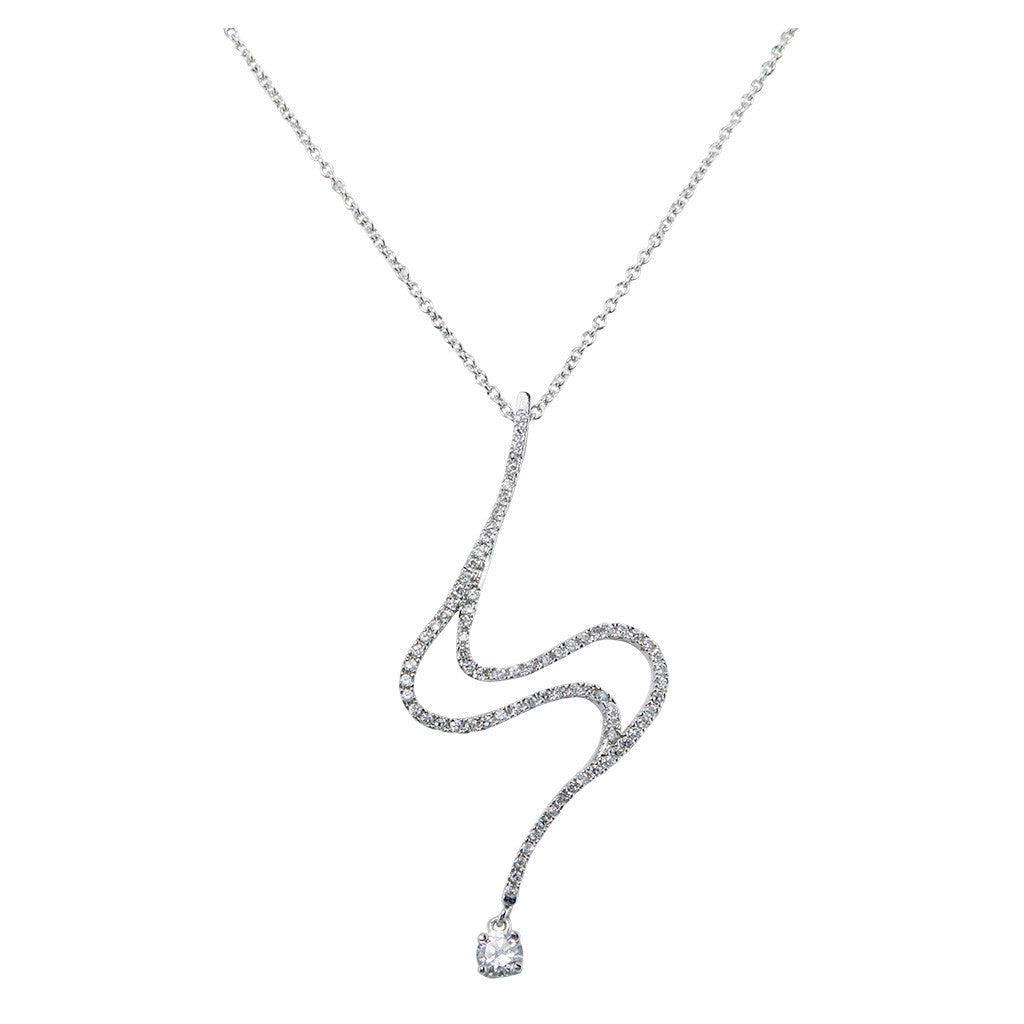 Irregular With One Brilliant Cut Diamond Pendant - Bon Flare Ltd.