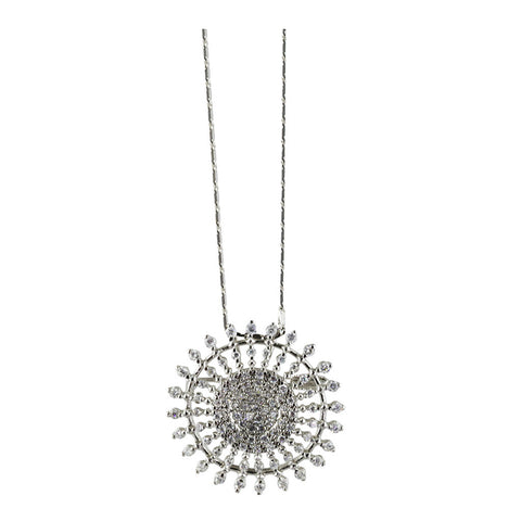 Sun Diamond Pendant/Brooch