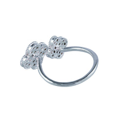 Double Four Leaf Clover Finger Cuff Ring - Bon Flare Ltd.