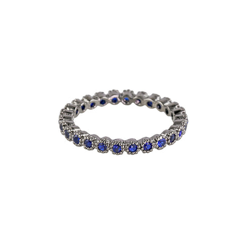 Bezel-Set Sapphire Eternity Stackable Ring