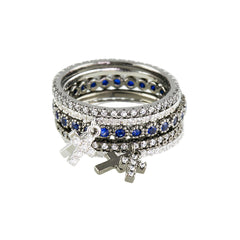Bezel-Set Sapphire Eternity Stackable Ring - Bon Flare Ltd.