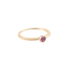 Bezel-Set Ruby Stone Ring - Bon Flare Ltd.