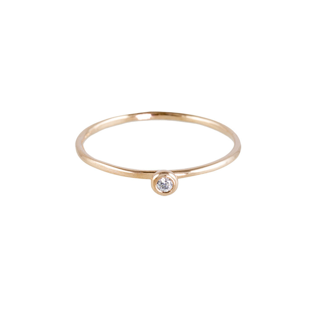 Bezel-Set Diamond Ring - Bon Flare Ltd.
