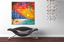 "Load image into Gallery viewer, ""Miami Beach Life"" Original Acrylic Tropical Abstract Painting by Megan Duncanson (48""x48"")"
