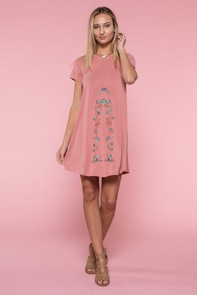 Embroidery Short Sleeve Dress