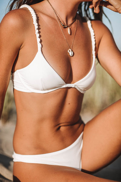 Noosa underwire bikini top in ribbed foam - summer label swimwear