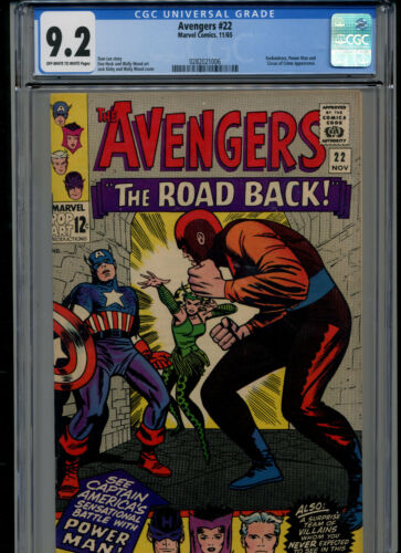 1965 Marvel Avengers #22 CGC Graded 9.2