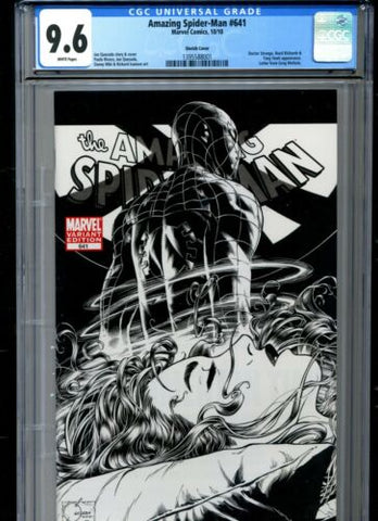 "2010 Marvel Amazing Spider-Man #641 CGC GRADED 9.6 Joe Quesada ""sketch"" variant"