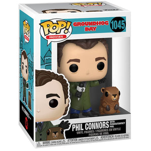 Funko Pop Groundhog Day Phil Connors with Punxsutawney Phil