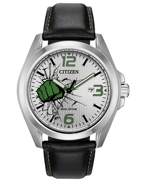 Citizen Marvel The Incredible Hulk ECO-Drive Silver Stainless Steel Men's Watch