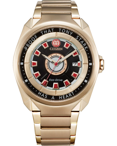 "Citizen Eco-Drive Marvel Tony Stark ""I Love You 3000"" Limited Edition Rose Gold-Tone Men's Watch"
