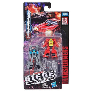 Transformers War for Cybertron Siege Micromasters Patrol Roadhandler and Swindler Autobots