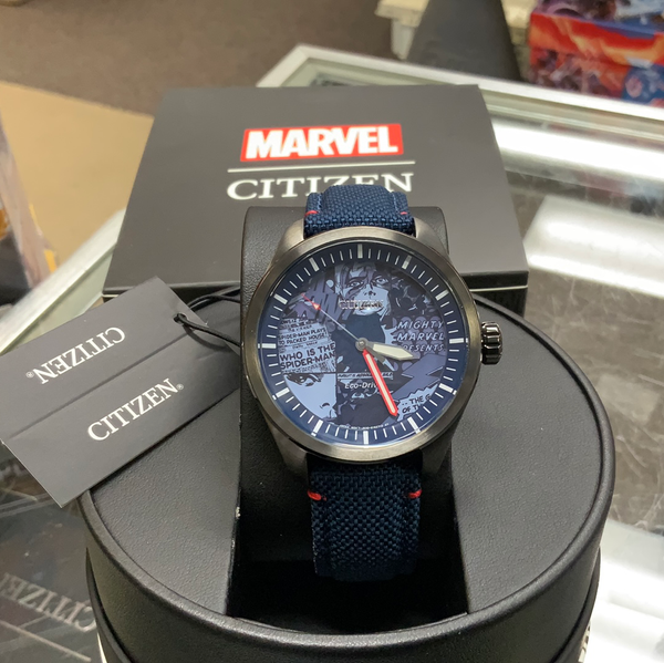 Citizen Marvel Heroes Eco-Drive Blue Dial Stainless Steel Men's Watch