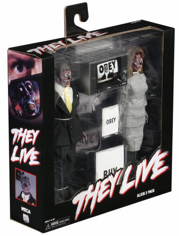 "NECA They Live 8"" Clothed Action Figure 2-Pack"