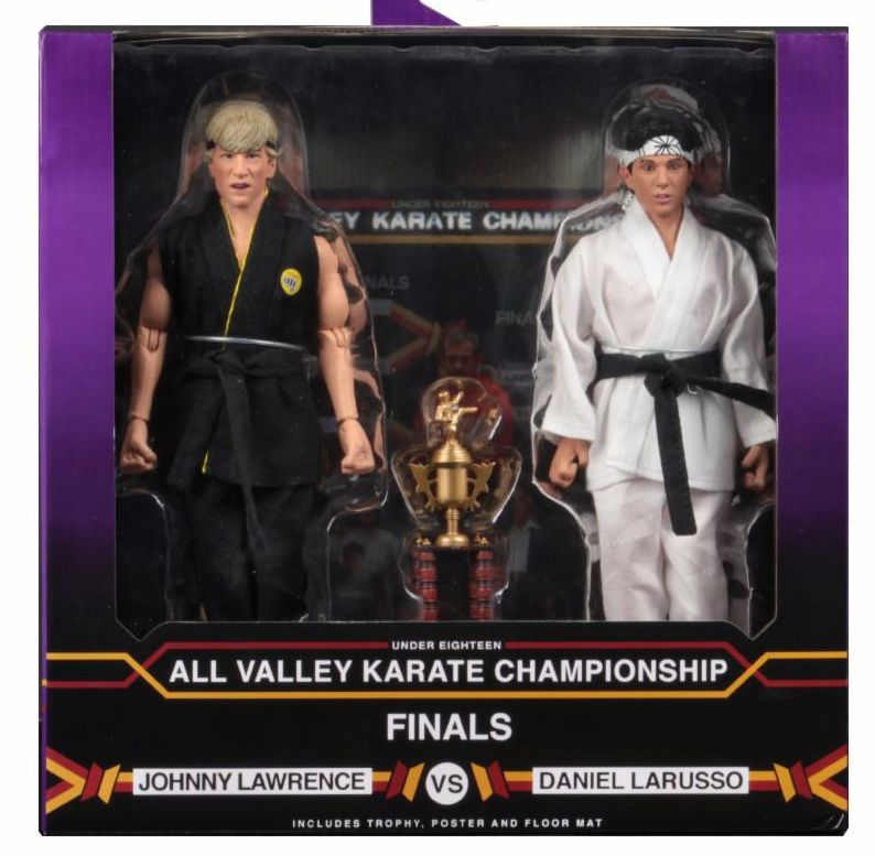"NECA Karate Kid (1984) 8"" Clothed Figure Tournament 2-Pack Daniel vs Johnny"