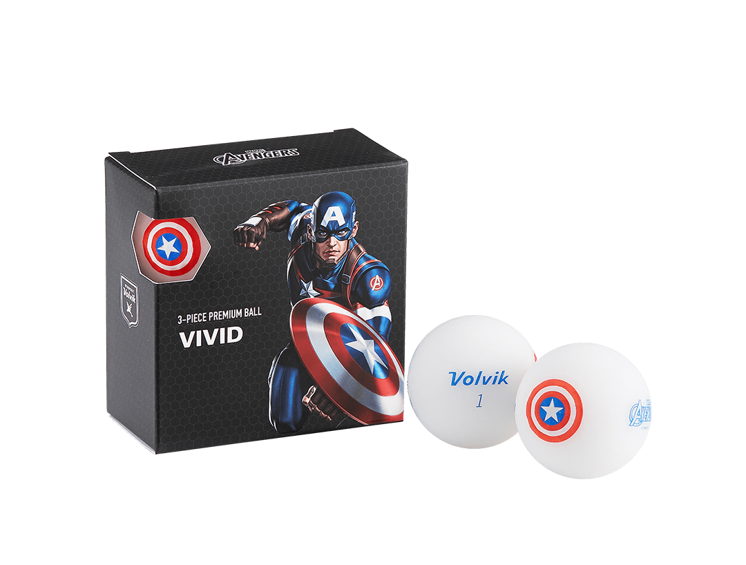 Volvik Marvel's Captain America 4 Ball Pack