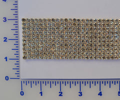 10 Row Rhinestone Banding. Available in Crystal & AB