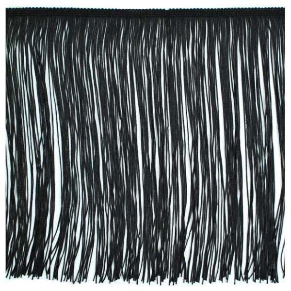 "12"" Black Chainette Fringe"