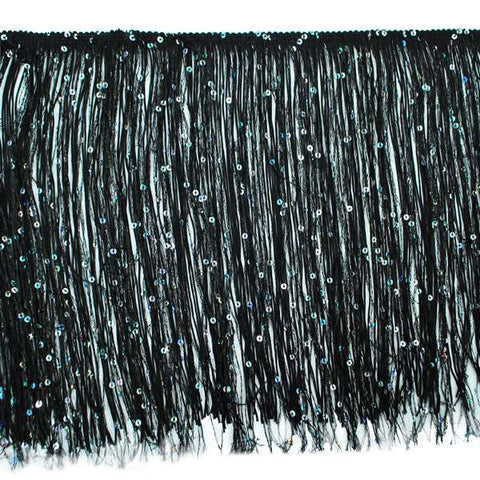 "12"" Chainette Fringe With Holographic Sequins - 3 Colors Available"