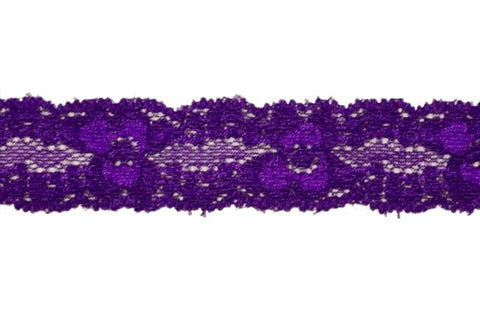"1"" Stretch Lace - Purple"