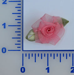 "1 1/4"" Organza Rosette - 6 Colors Available - Pack of 12"