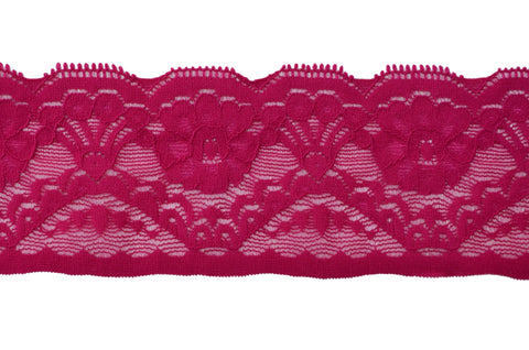 "2 1/2"" Stretch Lace - Dark Fuchsia"