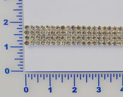 4 Row Rhinestone Banding. Available in Crystal & AB
