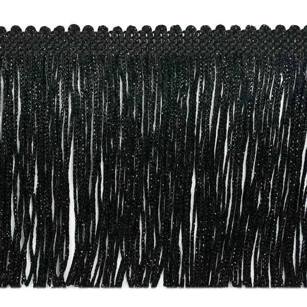 "4"" Black Metallic Fringe"
