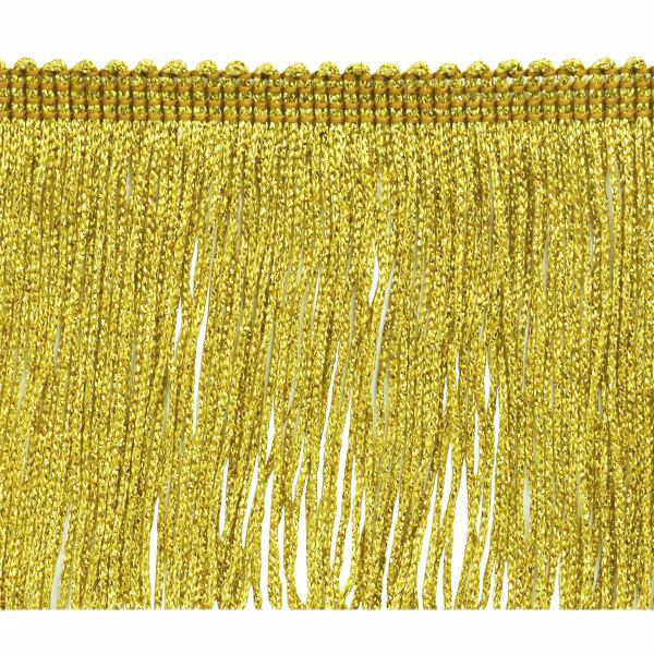 "4"" Gold Metallic Fringe"