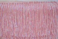 "4"" Lt. Pink Glass Bead Fringe"